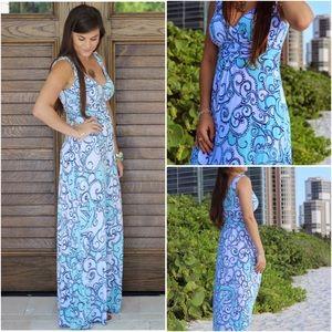 🔴Lilly Pulitzer Sloane V-Neck Maxi Dress